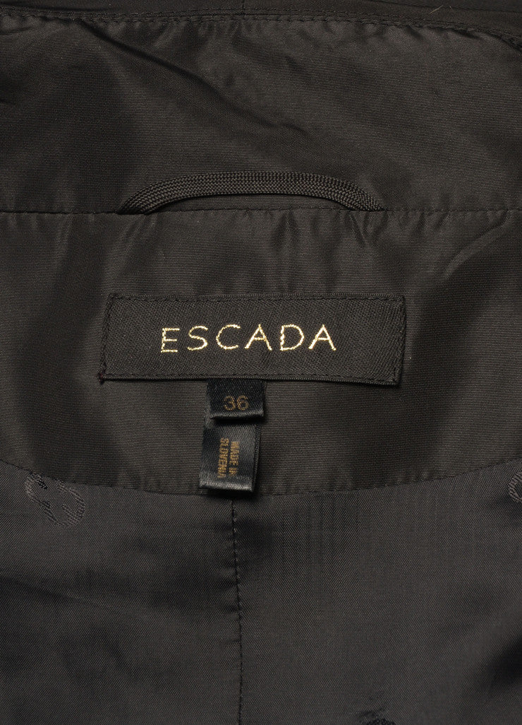 Escada Black Open Front Opera Coat Brand