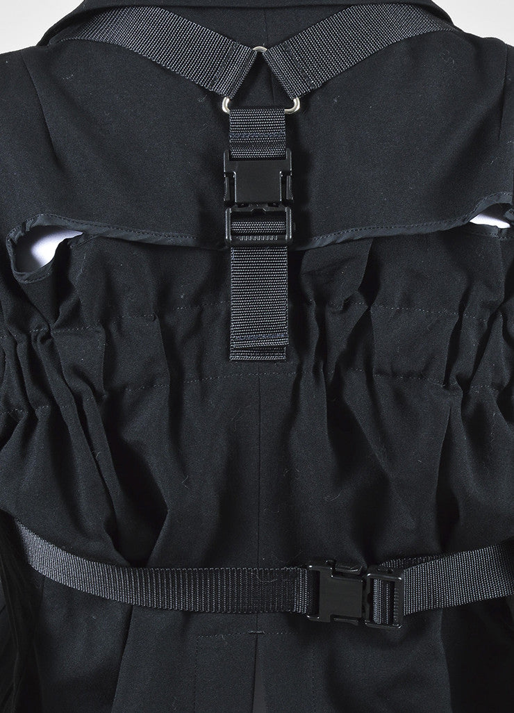 Junya Watanabe Comme Des Garcons Black Buckle Strap Harness Jacket Detail