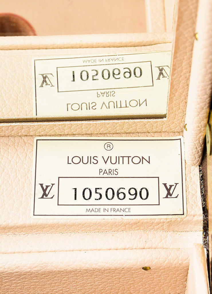 "Louis Vuitton Monogram Canvas ""Boite Bouteilles"" Hardshell Case With Mirror Serial"
