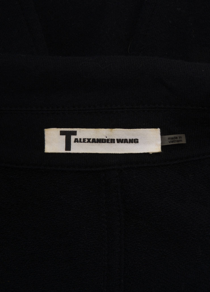 T by Alexander Wang Black Cotton Blend Leather Trim Jacket Brand