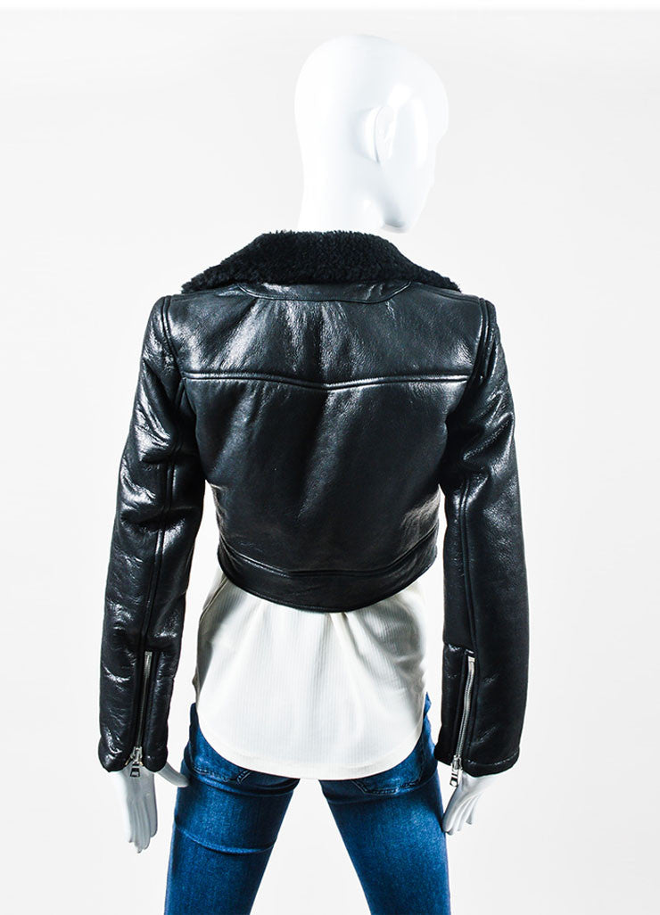 "The Perfext Black Leather Boxy Motorcycle ""Wooster"" Jacket Backview"