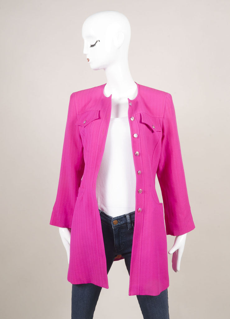 Bazar by Christian Lacroix Hot Pink Wool Jacket and Skirt Suit Jacket