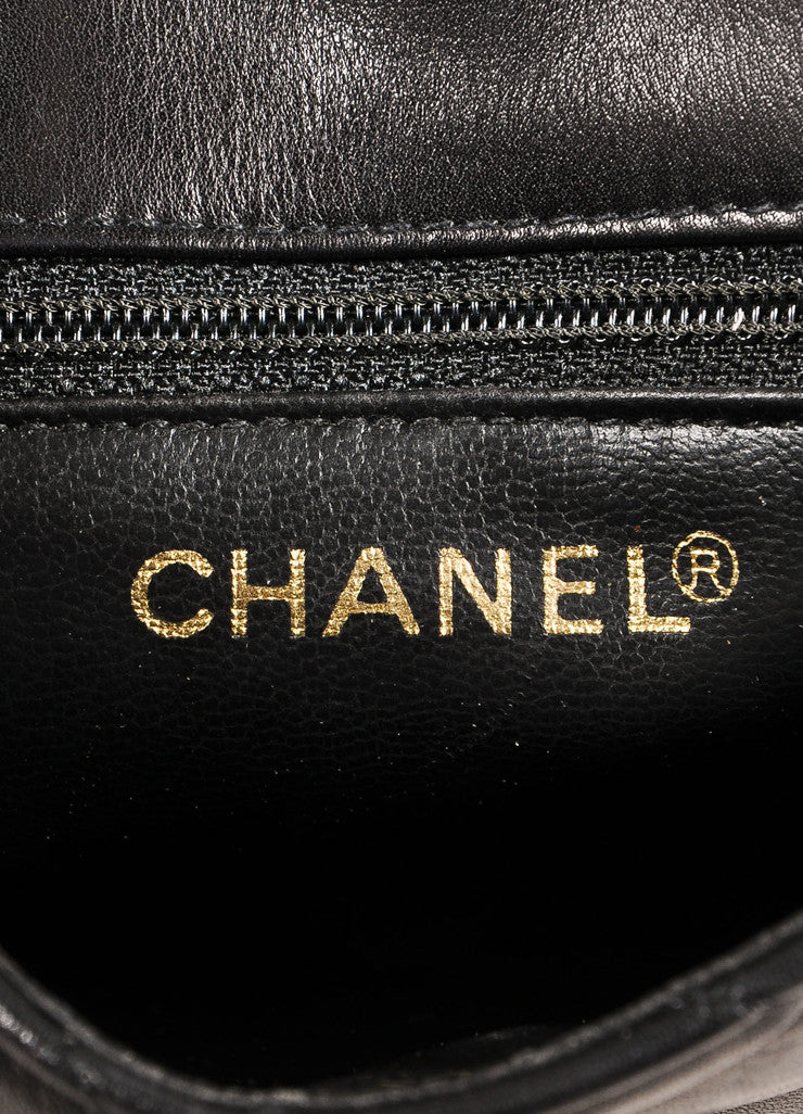 "Chanel Black and Gold Toned ""CC"" Turnlock Quilted Leather Belt Bag Brand"