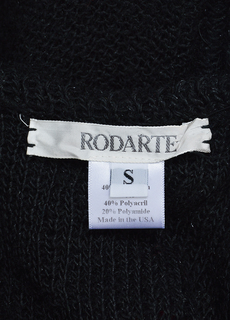 Black and Red Rodarte Wool Knit Ruffle Sweater Top Brand