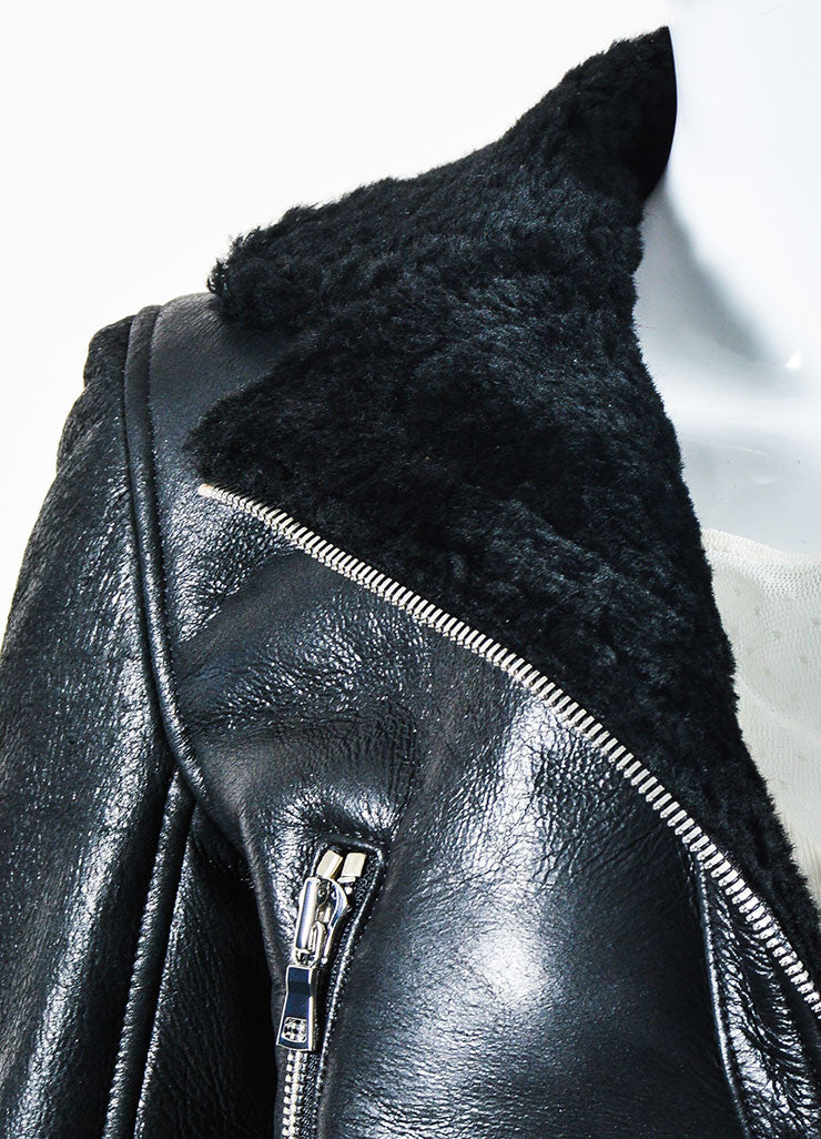 "The Perfext Black Leather Boxy Motorcycle ""Wooster"" Jacket Detail"