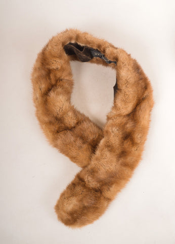 Chas. A. Stevens & Co. Brown Mink Fur Stole Frontview