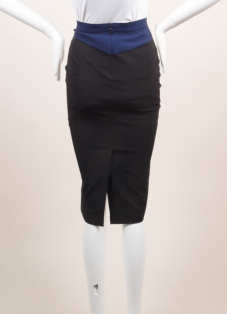 Altuzarra New With Tags White, Black, and Navy Colorblock Bodycon Skirt Backview