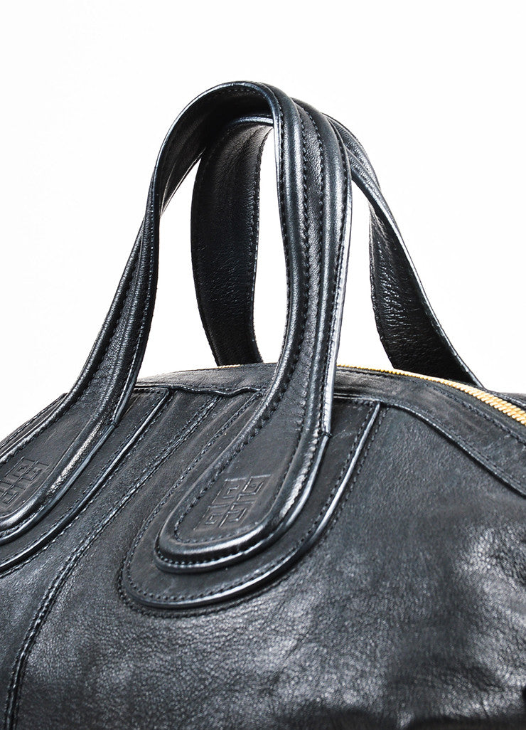 "Givenchy Black Leather ""Medium Nightingale"" Shoulder Bag Detail 2"