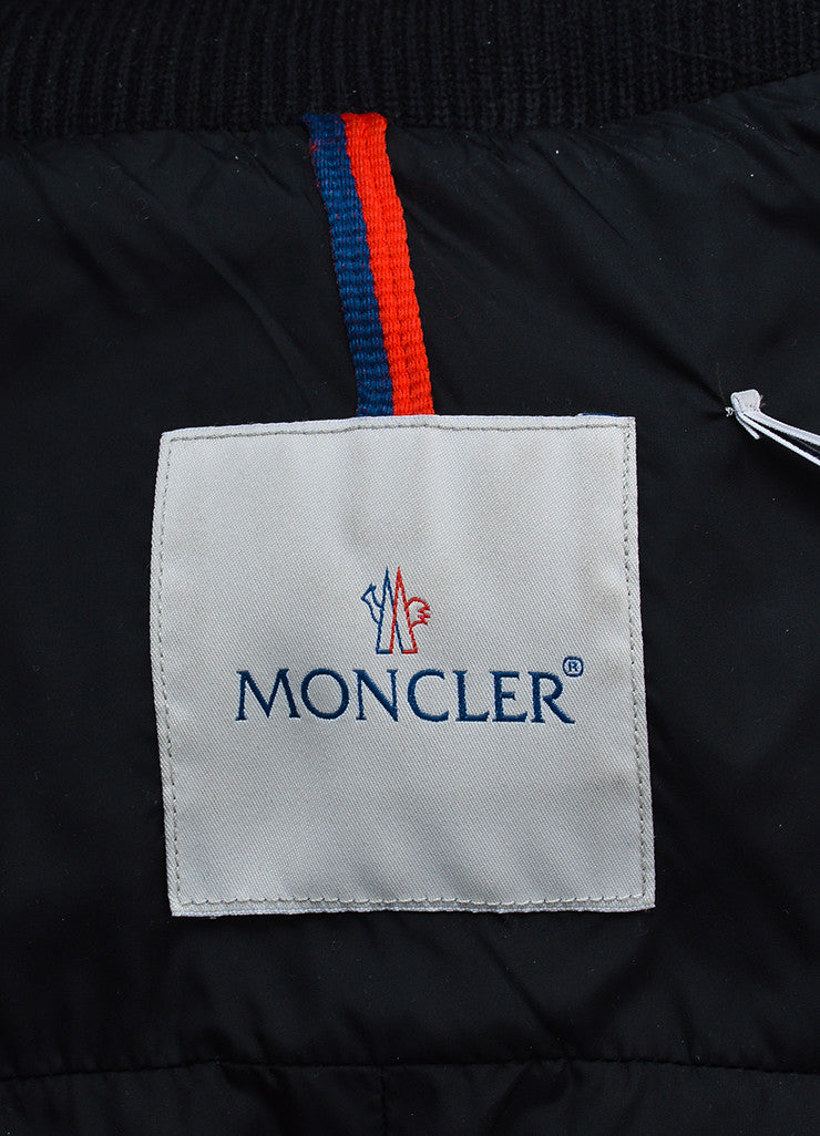 Men's Moncler Black Down Winter Coat Brand