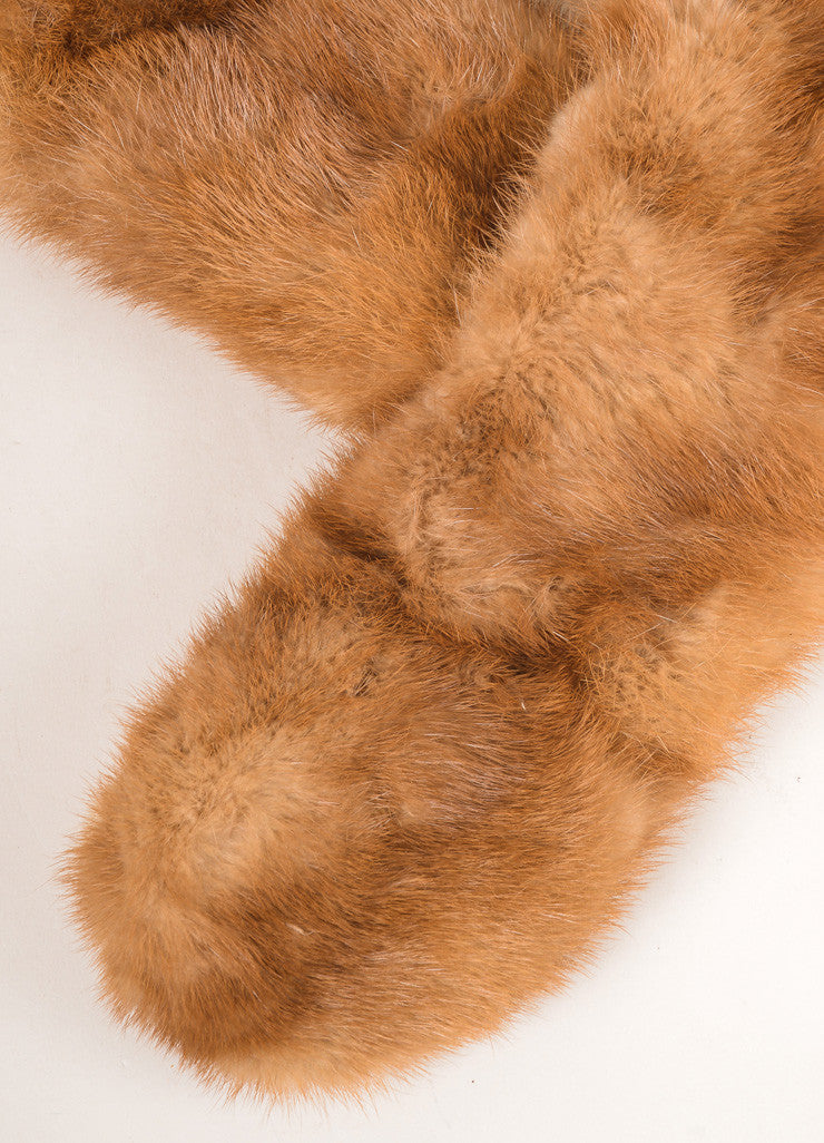 Chas A. Stevens Co. Brown Mink Fur Stole Detail