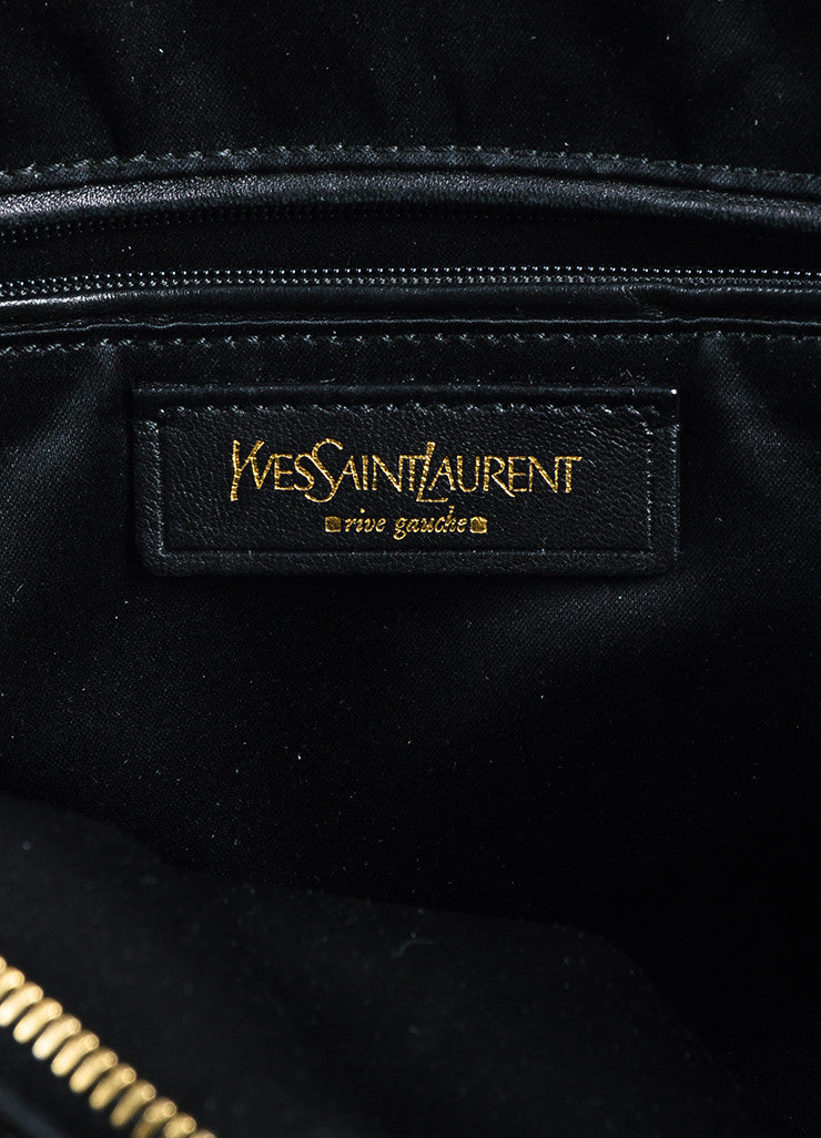 "Black Yves Saint Laurent Patent Leather Large ""Muse"" Bag Brand"