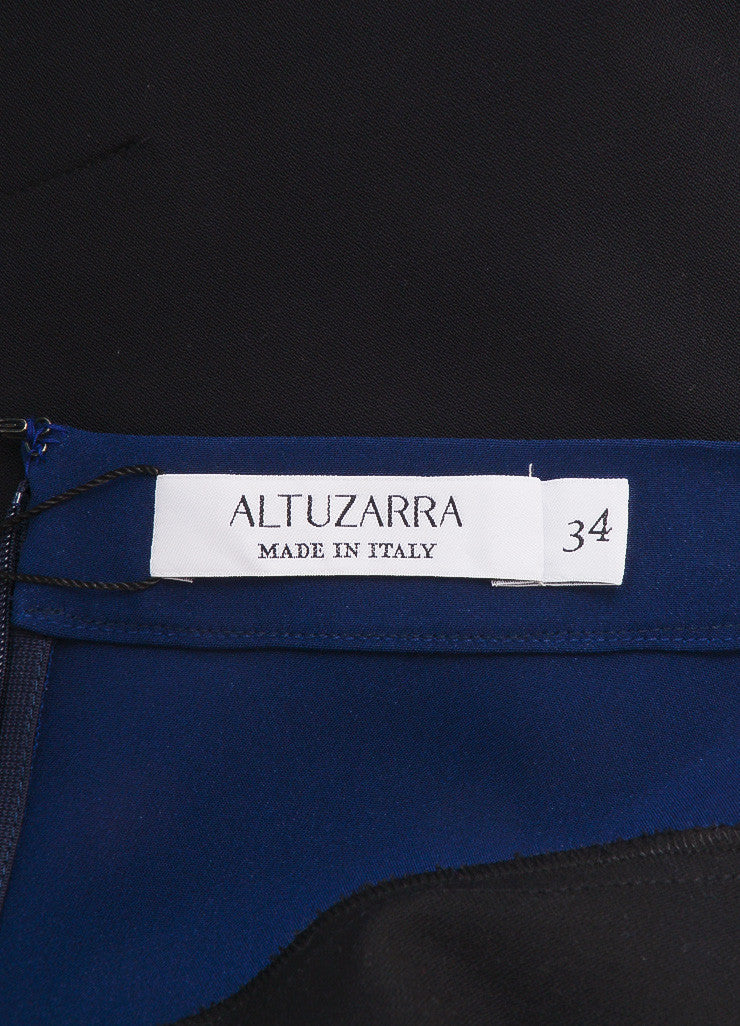 Altuzarra New With Tags White, Black, and Navy Colorblock Bodycon Skirt Brand