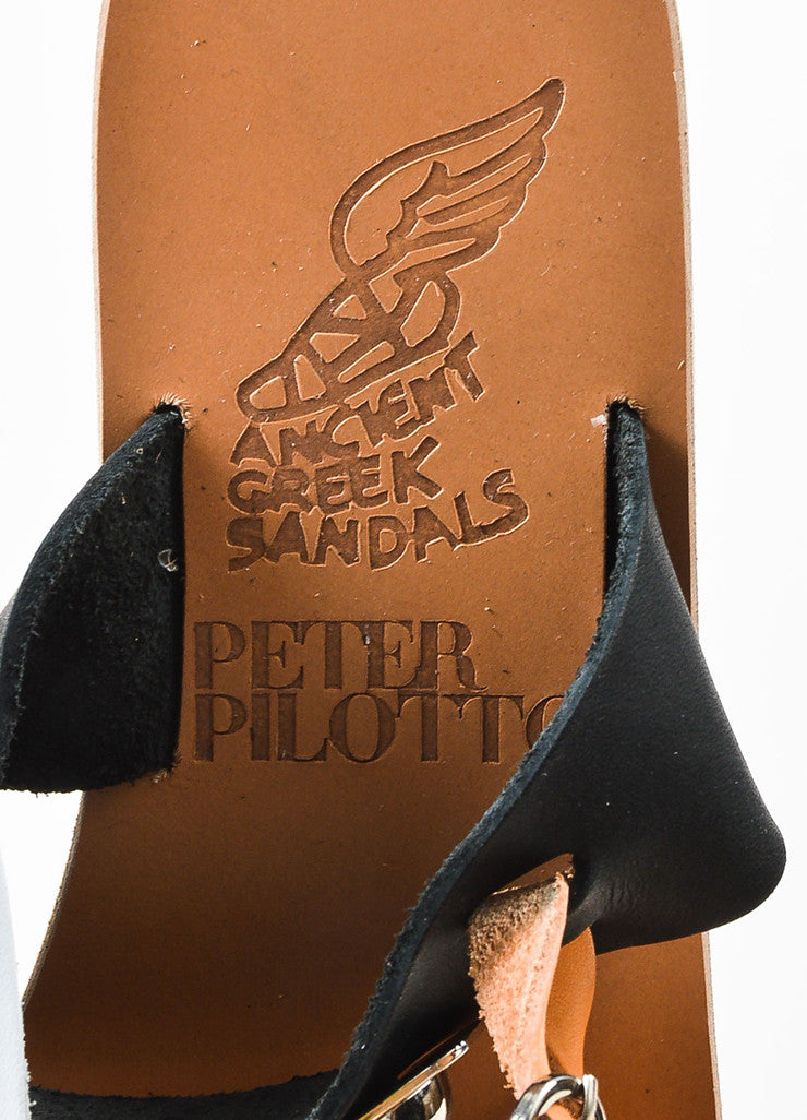 Ancient Greek Sandals x Peter Pilotto Tan and Black Gladiator Sandals Brand