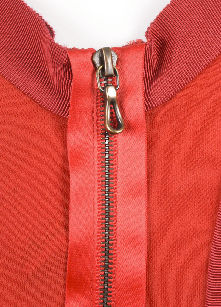 Lanvin Red Jersey Racer Back Rope Belted Trapeze Dress Detail