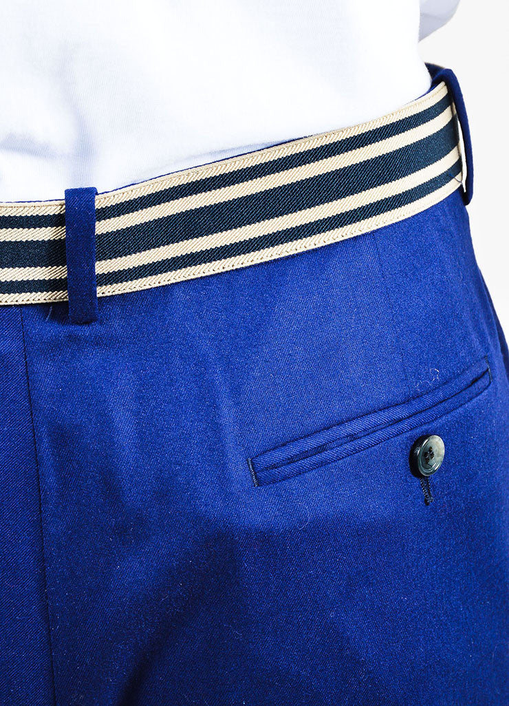 MEN'S Blue Alexander McQueen Striped Pants Detail