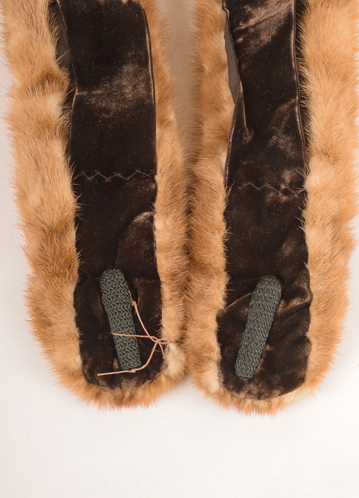Chas A. Stevens Co. Brown Mink Fur Stole Detail 2