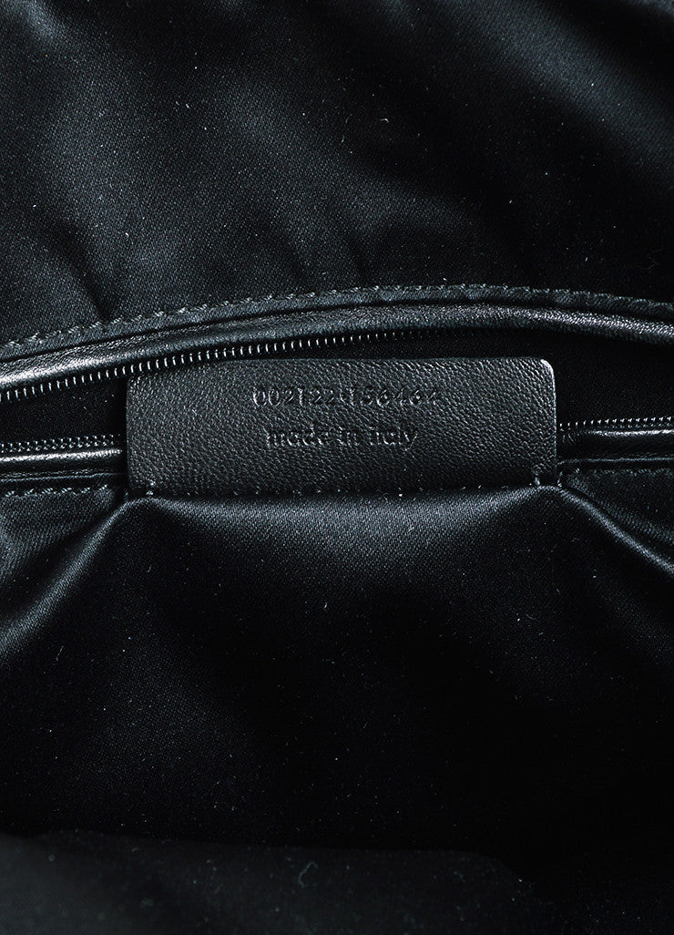 "Black Yves Saint Laurent Patent Leather Large ""Muse"" Bag Brand 2"