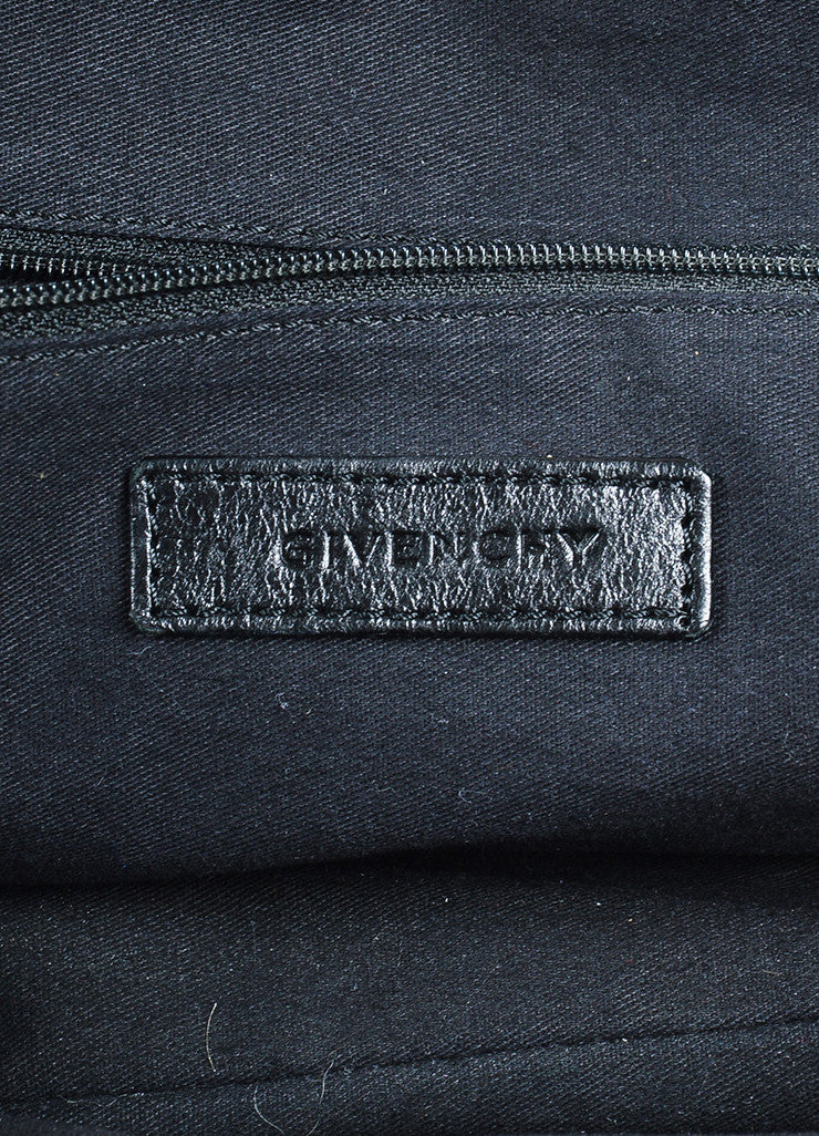 "Givenchy Black Leather ""Medium Nightingale"" Shoulder Bag Brand"