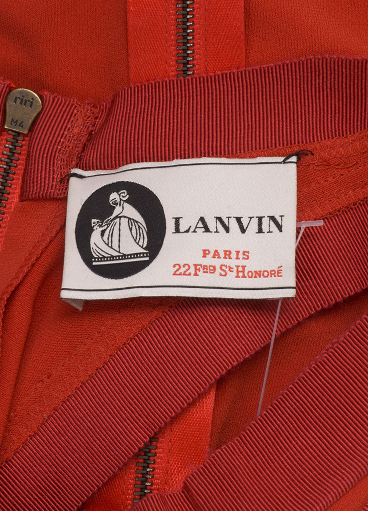 Lanvin Red Jersey Racer Back Rope Belted Trapeze Dress Brand