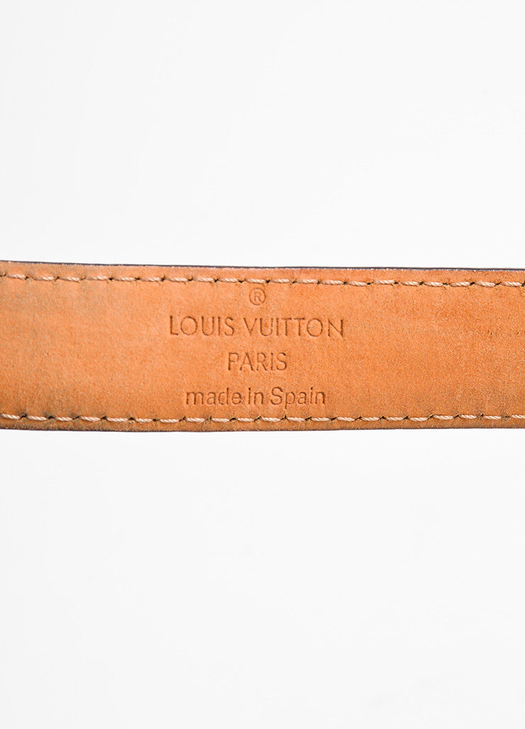 Louis Vuitton Brown Monogram Canvas Skinny Belt Brand
