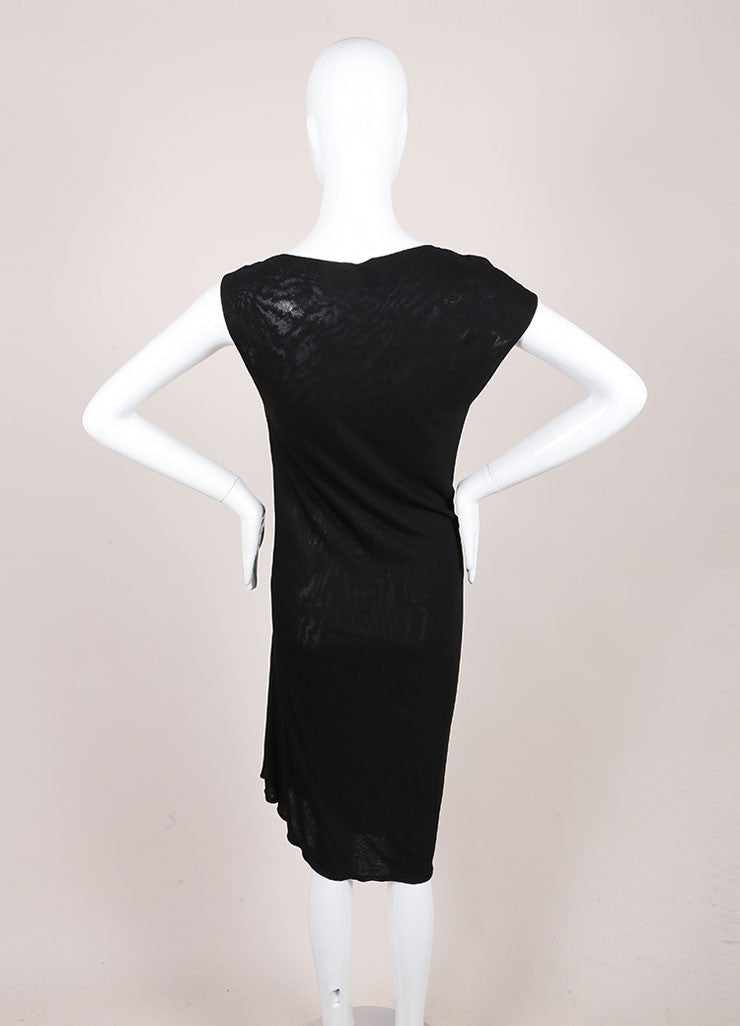 Derek Lam Black Drape Sleeveless Dress Backview