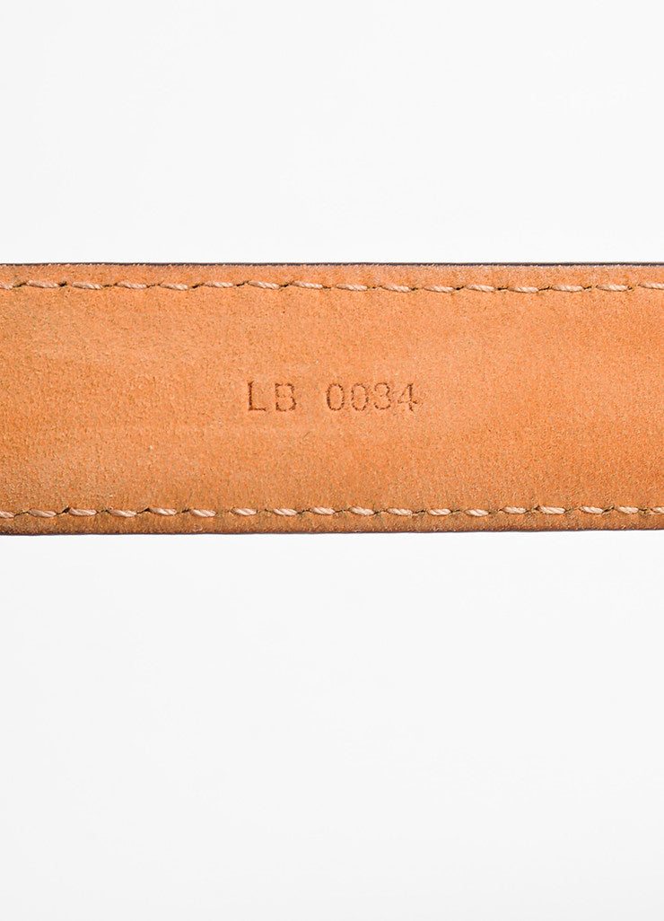 Louis Vuitton Brown Monogram Canvas Skinny Belt Serial