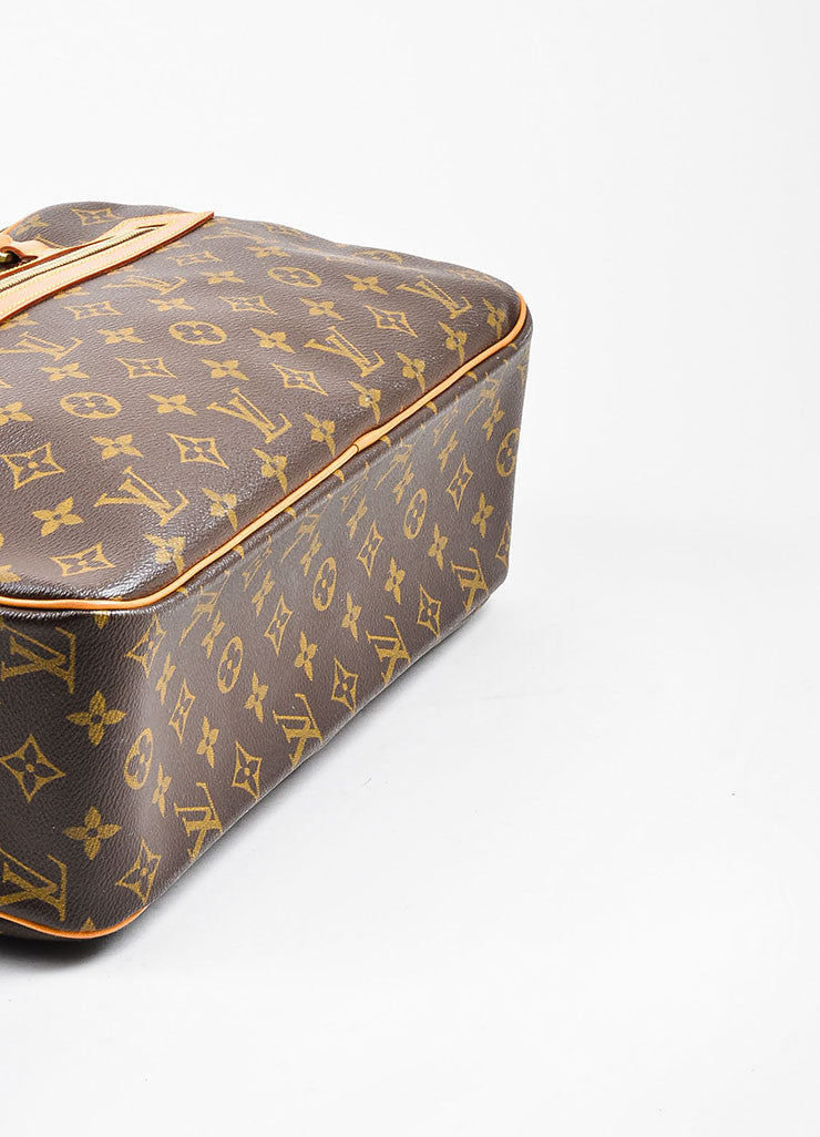"Brown and Tan Louis Vuitton Coated Canvas Monogram ""Cite GM"" Shoulder Bag Bottom View"
