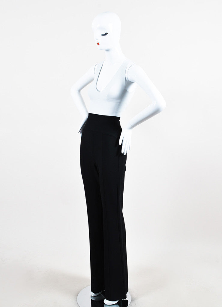 Light Grey and Black Narciso Rodriguez Sleeveless Crepe Jumpsuit Sideview