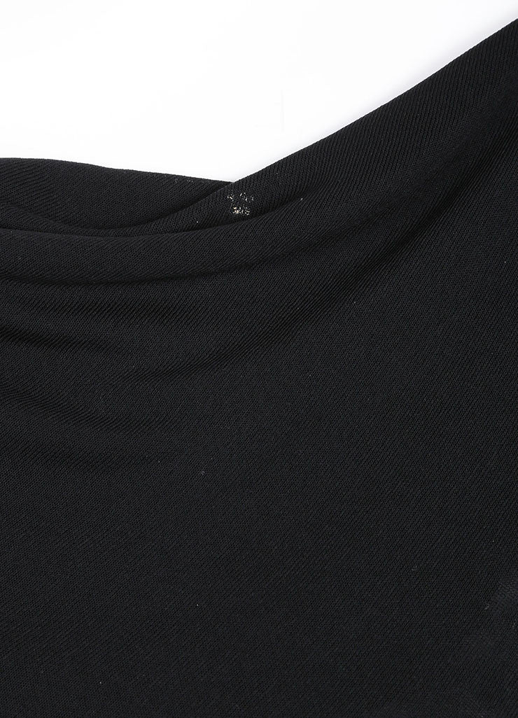 Derek Lam Black Drape Sleeveless Dress Detail