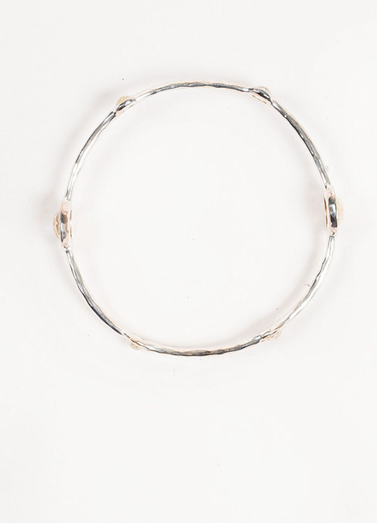 "Ippolita Sterling Silver, Diamond, and Mother of Pearl ""Lollipop"" Bangle Topview"
