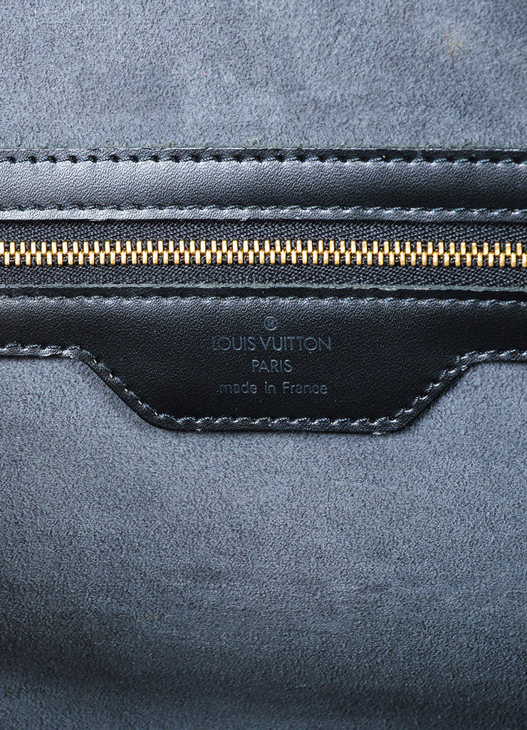 "Louis Vuitton Black Epi Leather ""Sorbonne"" Satchel Briefcase Bag Brand"