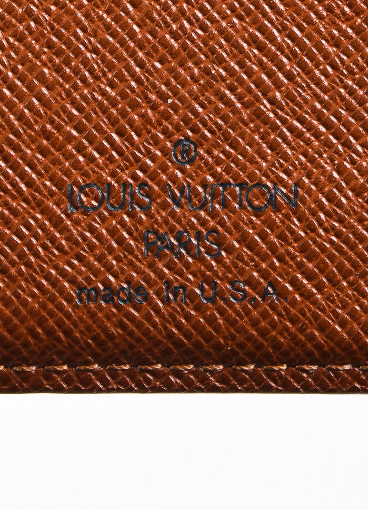 "Louis Vuitton Brown Monogram Canvas ""Long French Purse Wallet"" Brand"