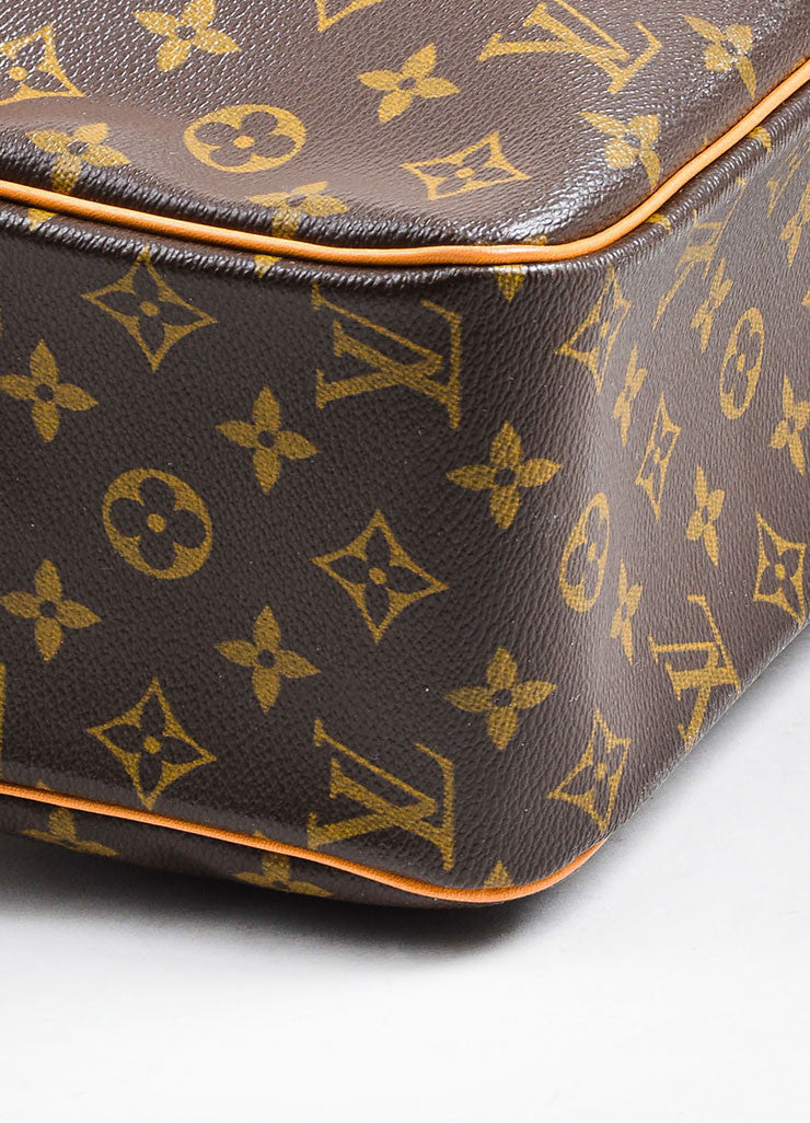 "Brown and Tan Louis Vuitton Coated Canvas Monogram ""Cite GM"" Shoulder Bag Detail"