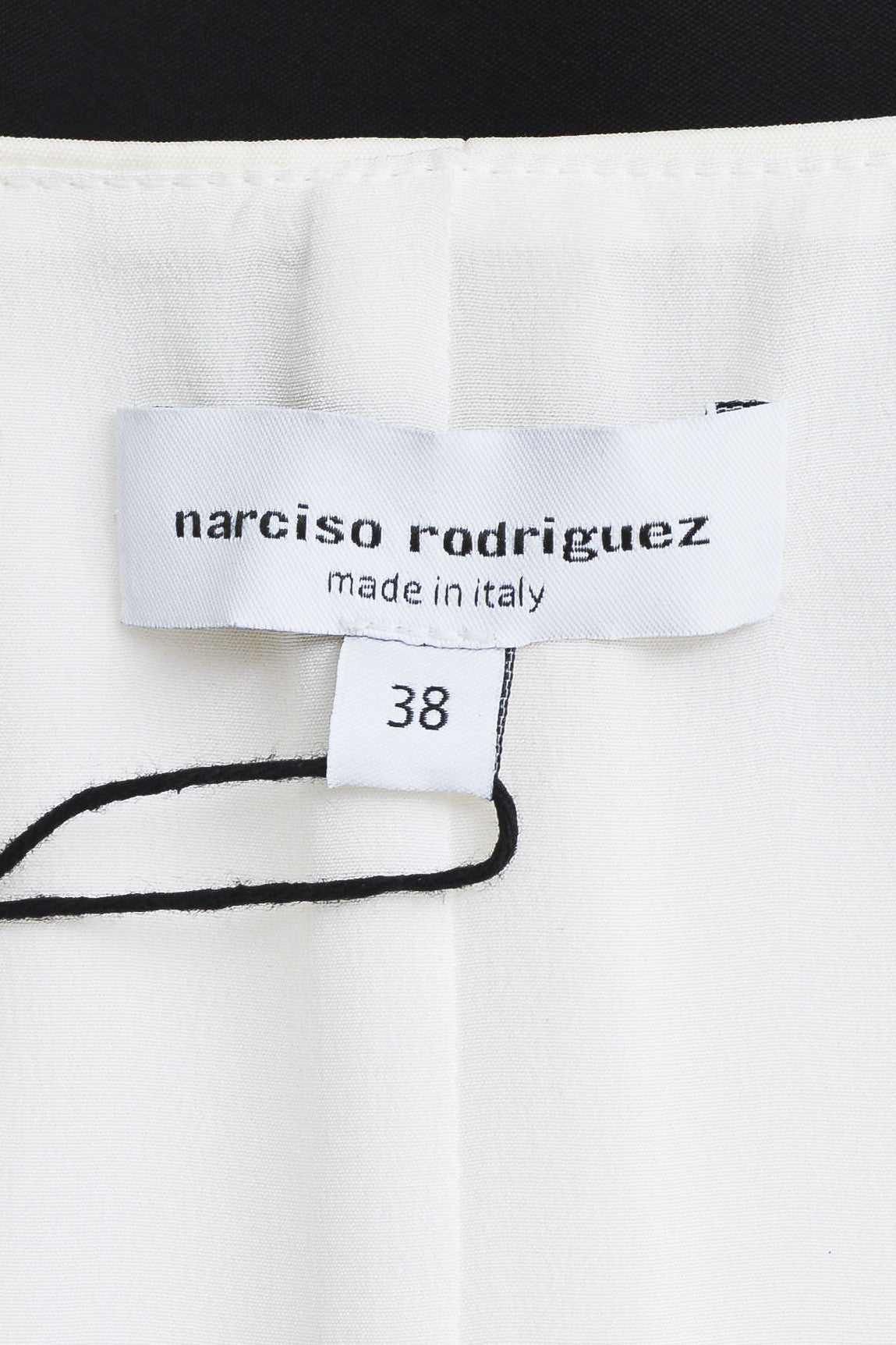 Narciso Rodriquez Black and White Wool and Silk Color Block Layered Dress Brand