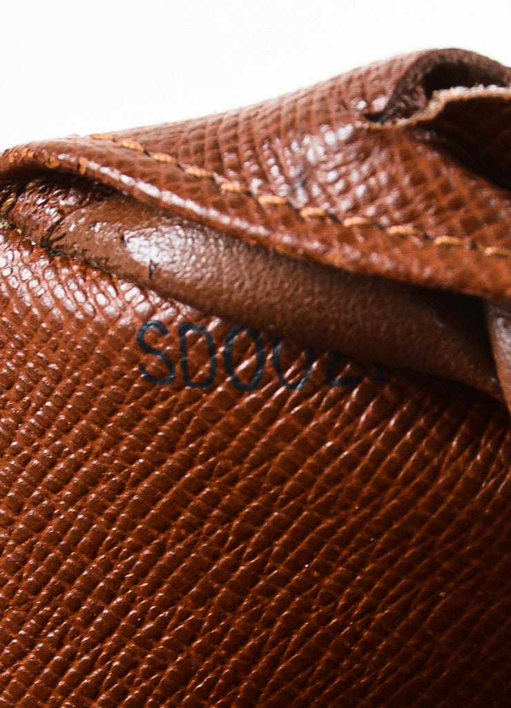 "Louis Vuitton Brown Monogram Canvas ""Long French Purse Wallet"" Date Code"