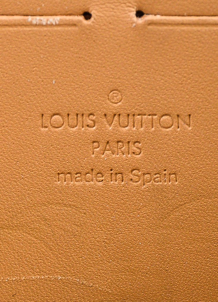 "Louis Vuitton Nude ""Noisette"" Vernis Patent Leather Monogram ""Zippy"" Wallet Brand"