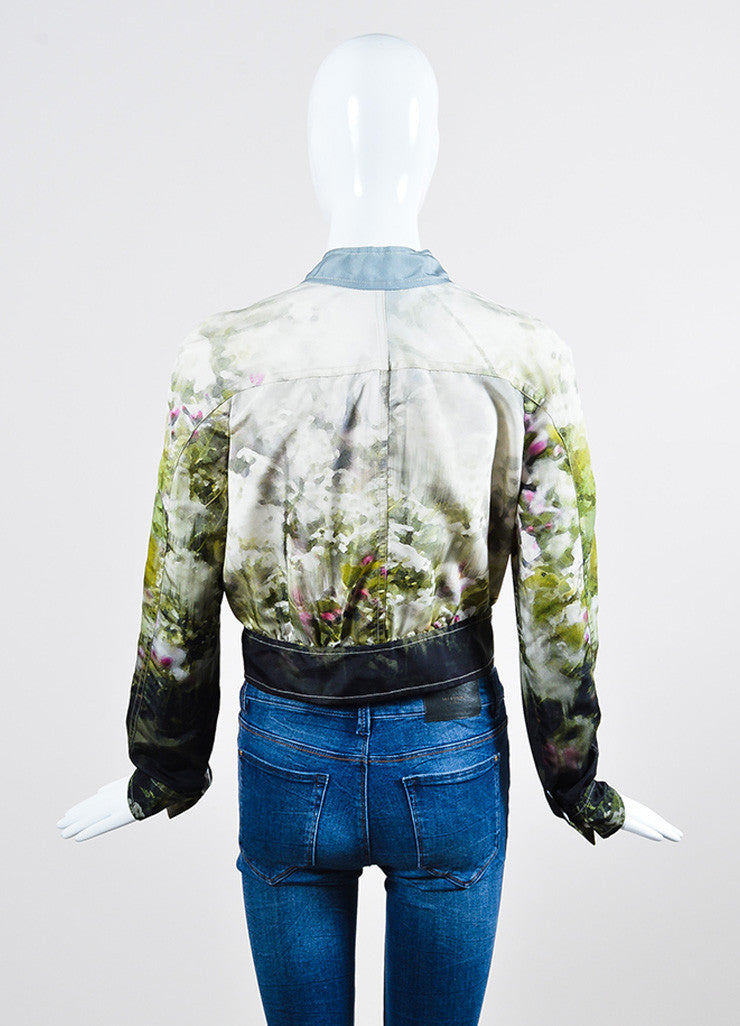 Multicolor Valentino Silk Watercolor Print Track Jacket Back