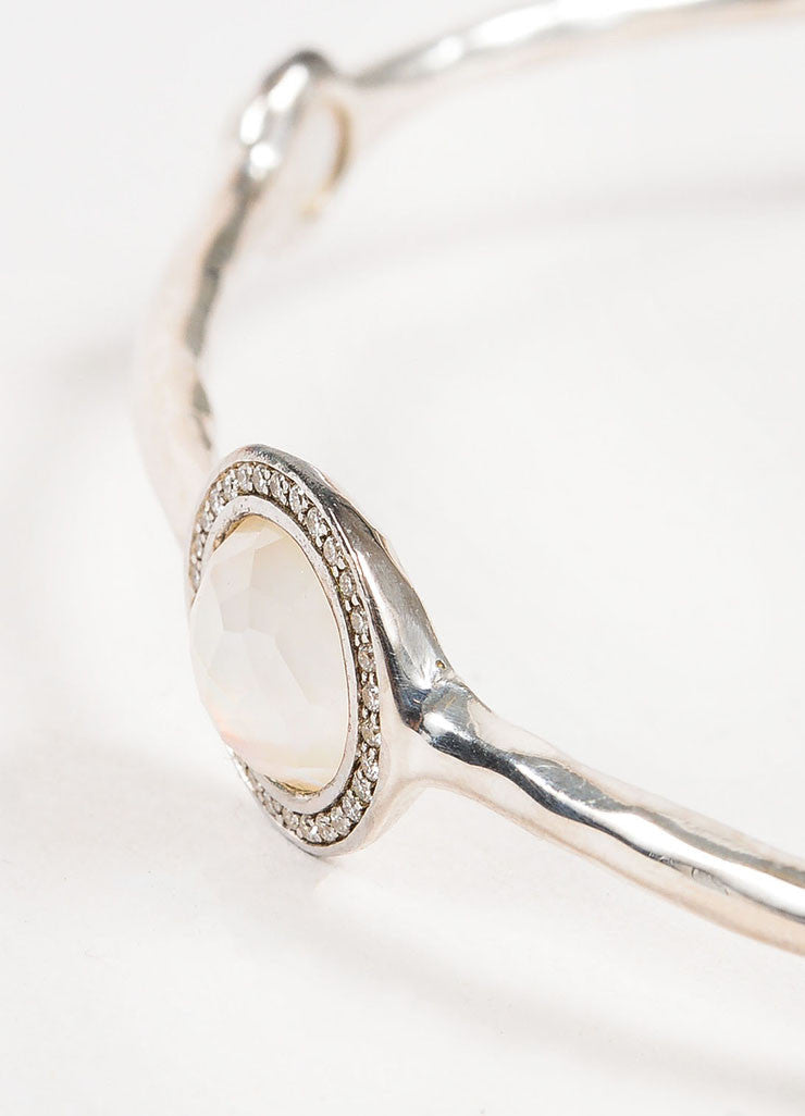 "Ippolita Sterling Silver, Diamond, and Mother of Pearl ""Lollipop"" Bangle Detail"