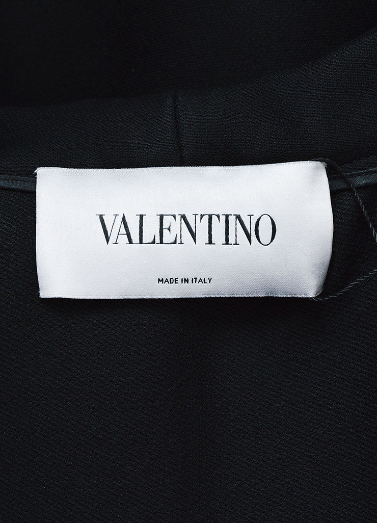 Valentino Black Wool and Silk Hooded Cape Brand