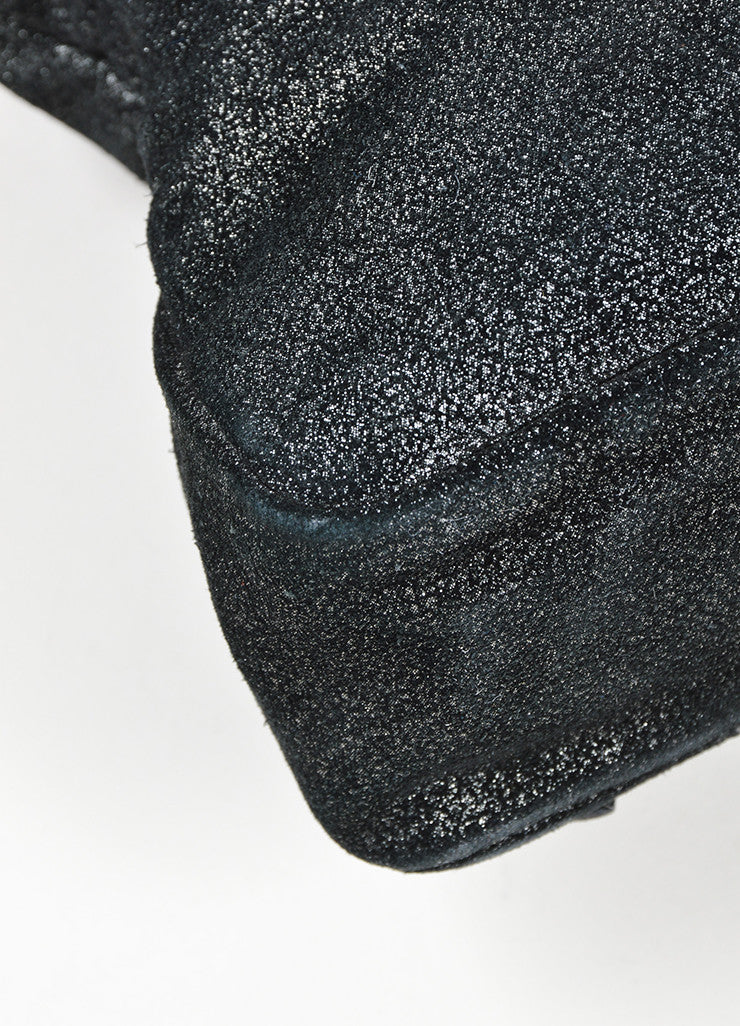 "Black Balenciaga  Leather Glitter Coated ""Classic First Satchel"" Bag Detail"