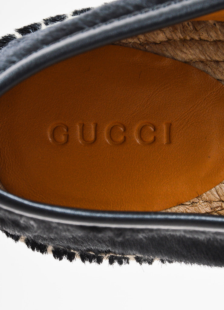 Black Gucci Ponyhair Espadrille Loafers Brand