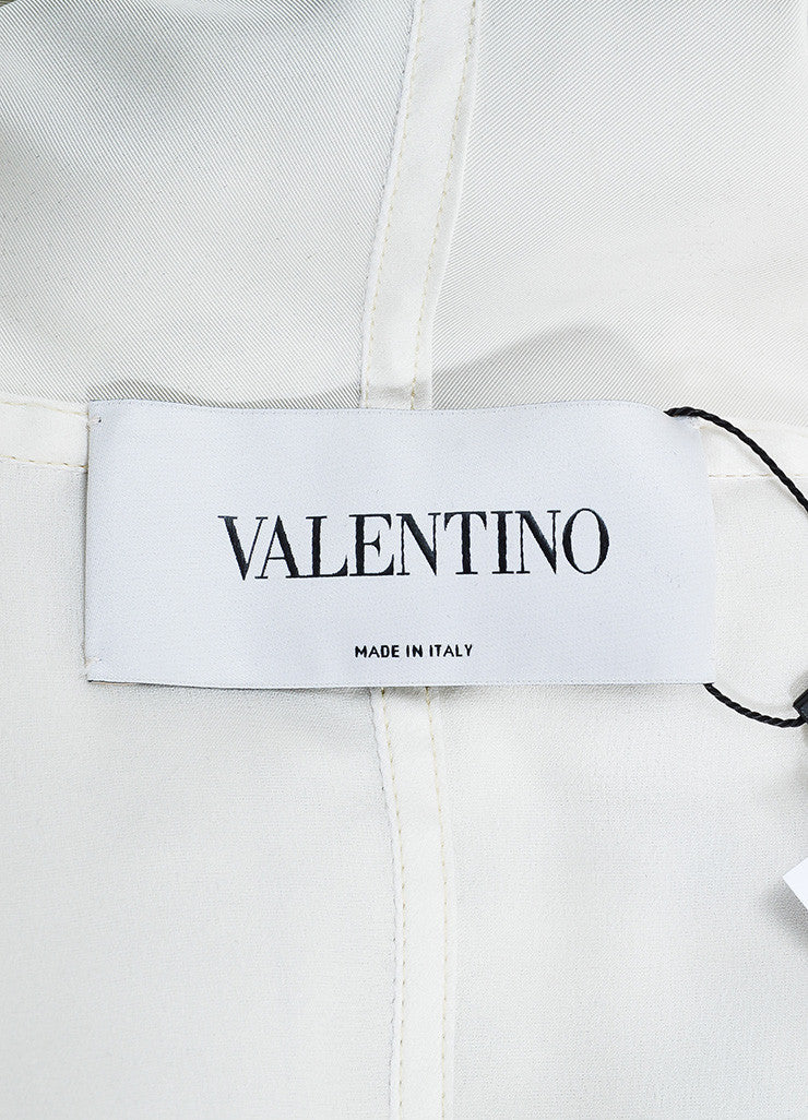 Multicolor Valentino Silk Watercolor Print Track Jacket Brand