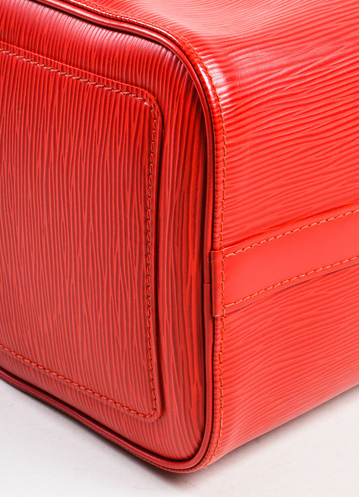 "Louis Vuitton Red Epi Leather ""Speedy 25"" Handbag Detail"