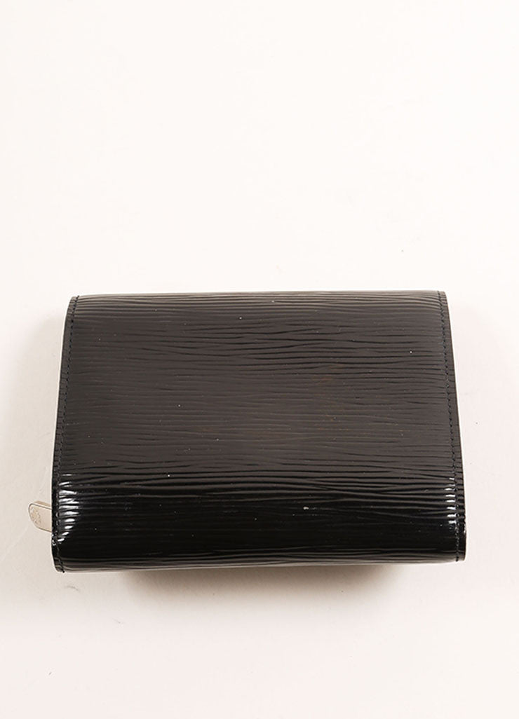 "Louis Vuitton Black Electric Patent Epi Leather Textured ""Joey"" Wallet Backview"