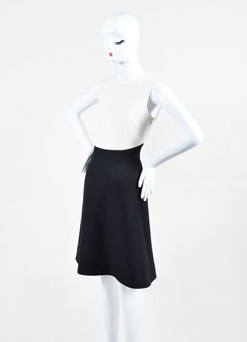 Black and White Valentino Colorblock Sleeveless Dress Side