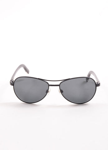 "Chanel Black Metal ""4201"" Aviator Sunglasses Frontview"