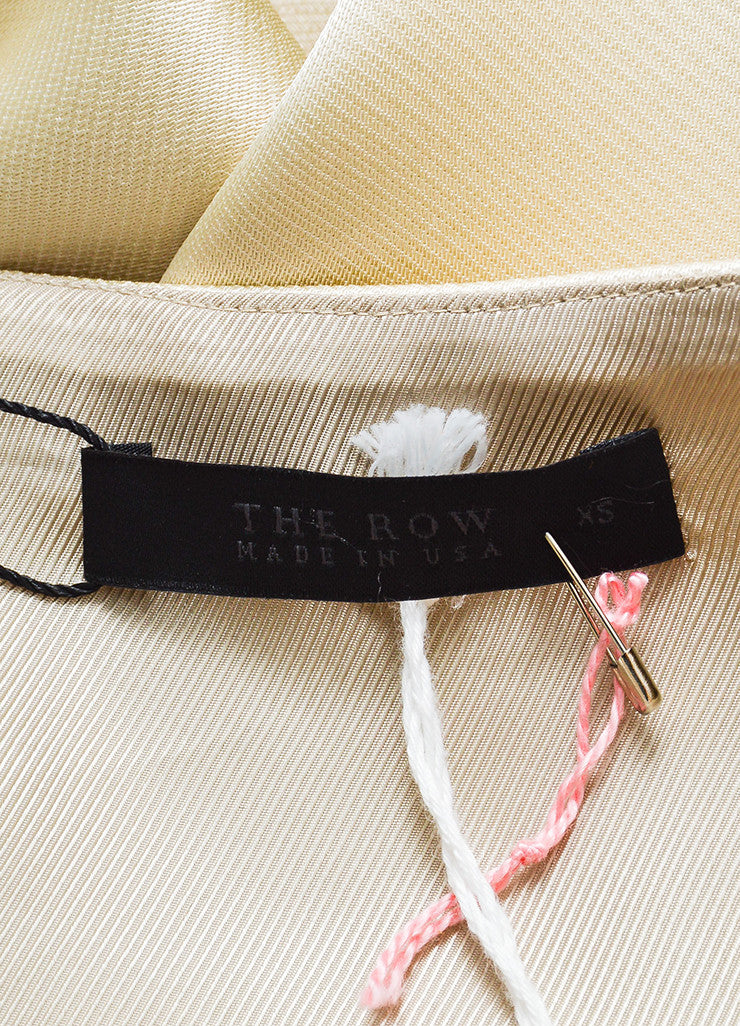 "The Row Cream Silky ""Haki"" Belted Wrap Kimono Jacket Brand"
