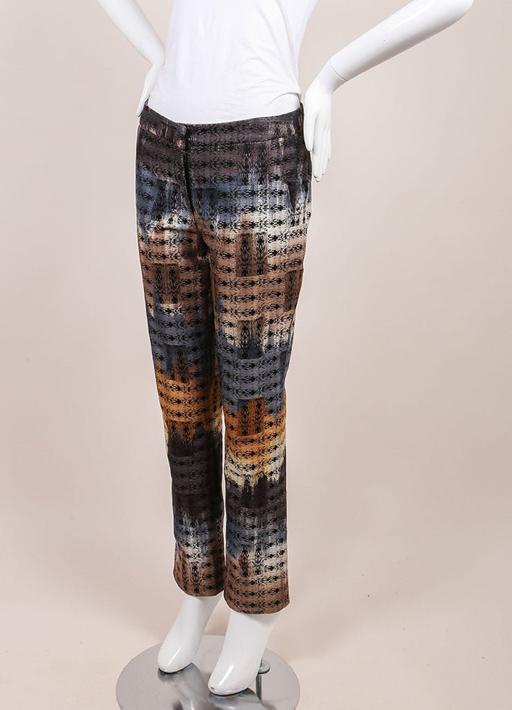 Wes Gordon New With Tags Multicolor Abstract Printed Trousers Sideview