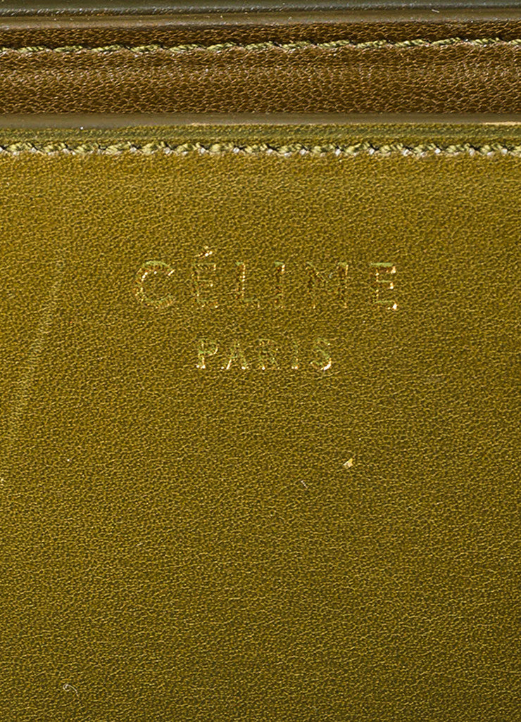 "Celine Olive Green Leather ""Large Box"" Shoulder Bag Brand"