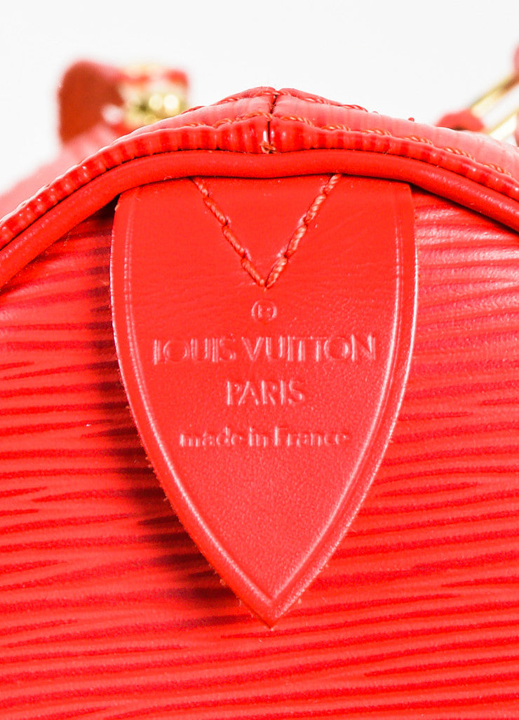 "Louis Vuitton Red Epi Leather ""Speedy 25"" Handbag Brand"